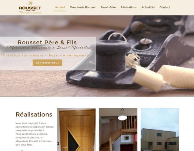 Accueil site Menuiserie Rousset