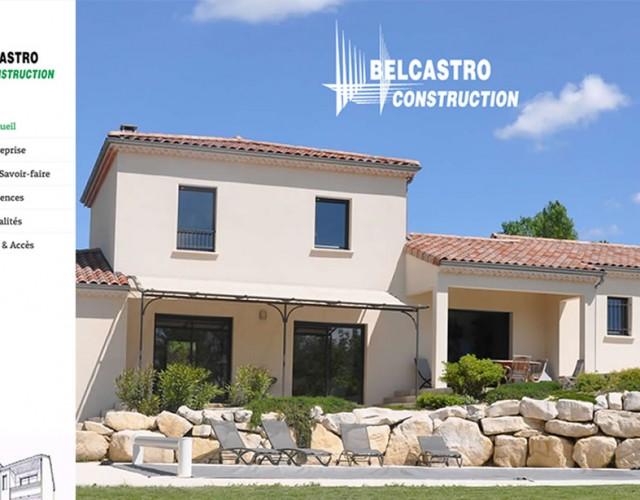 Accueil site Belcastro Construction