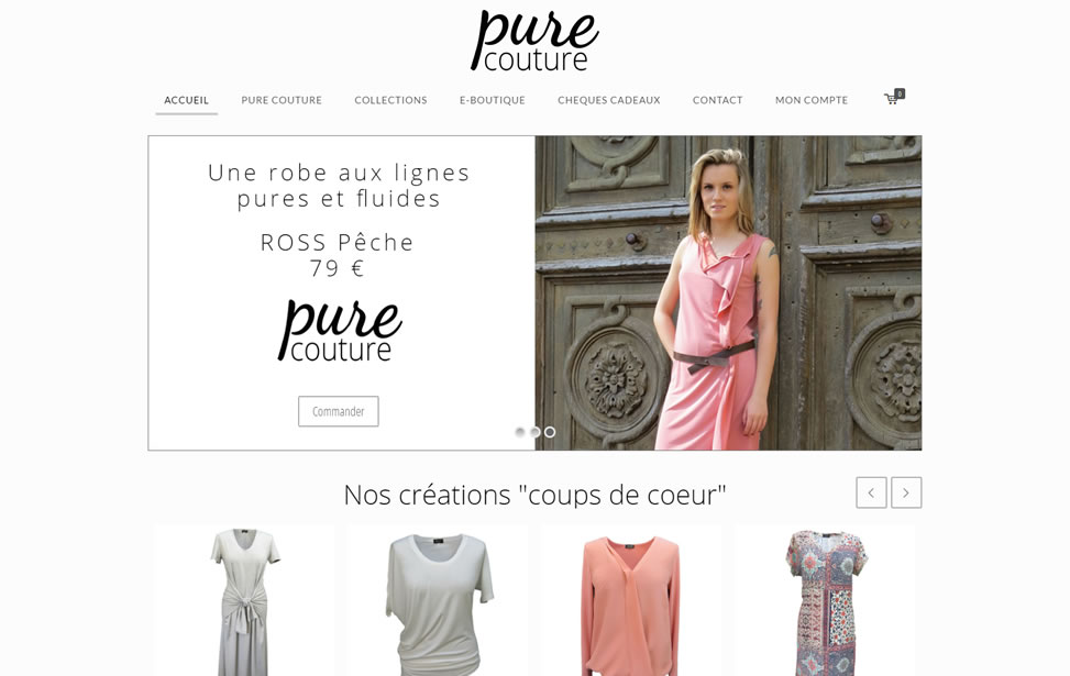 Accueil site PureCouture